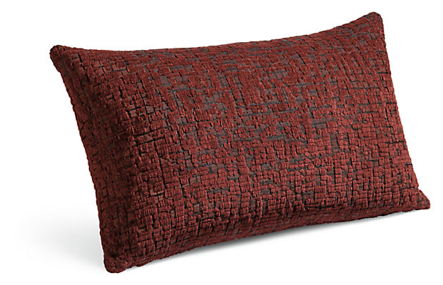 Staccato 22w 13h Throw Pillow in Rust