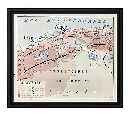 Vintage French School Map - Algerie