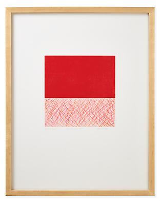 Juni Van Dyke, Red Untitled, 2020, Limited Edition Print