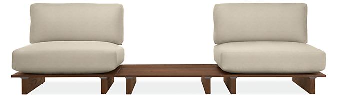 "Span 108"" 3-PC Modular Sofa with Table"