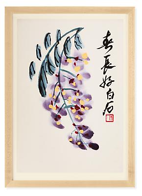 Qi Baishi Grapes Reproduction