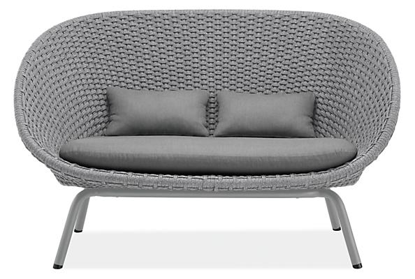 "Flet 60"" Sofa with Grey Cushions and Grey Base"