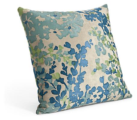 Fleur 18w 18h Throw Pillow