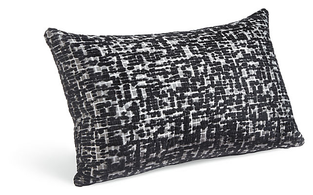 Staccato 22w 13h Throw Pillow in Black/White