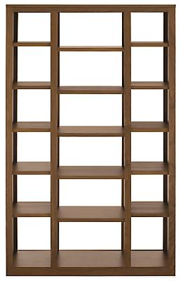 Woodwind 44w 17d 72h Triple Open-Back Bookcase