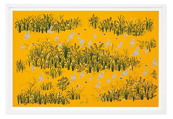 Haruna Niiya, The Grassy Knoll at Dusk, 2021 Limited Edition Silkscreen