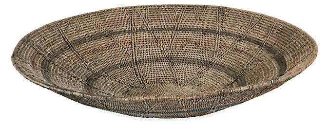 African Old Makenge Extra Large Winnowing Basket