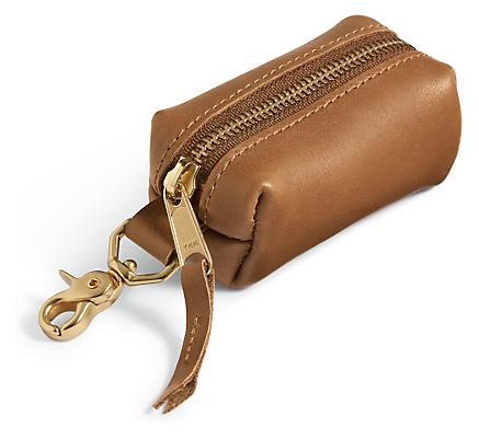 Miles Leather Dog Waste Bag Holder