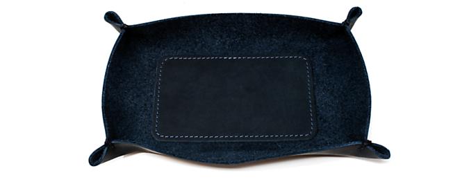 Brando 7w 5.5d 1.5h Leather Valet Tray