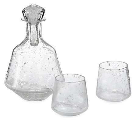 Winston Decanter and Two Angle Snifter Glasses Set
