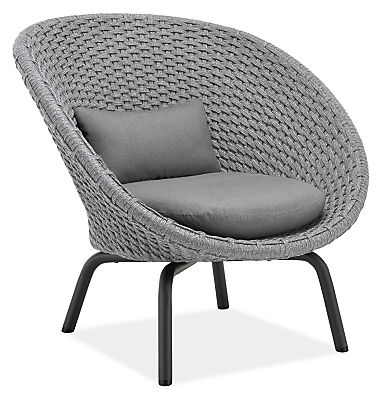 Flet Lounge Chair with Grey Cushions