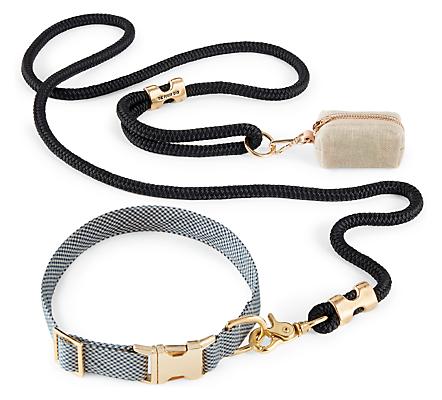 Hank Medium Dog Collar/Leash/Waste Bag Holder