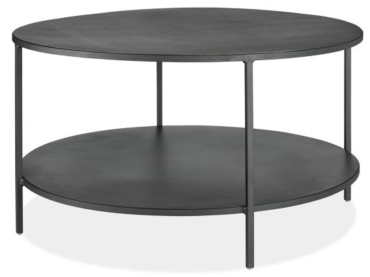Picture of: Slim Round Coffee Tables In Natural Steel Modern Coffee Tables Modern Living Room Furniture Room Board