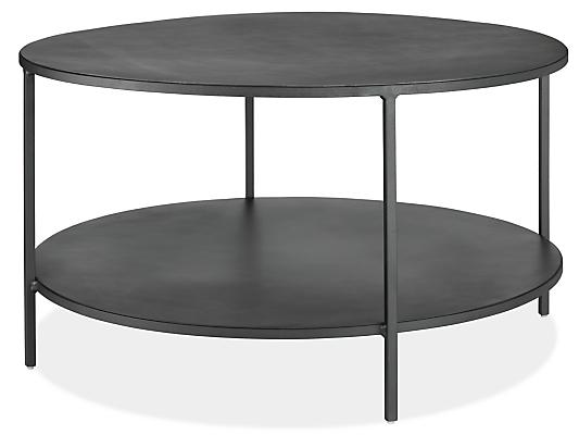 Slim 30 diam 16h Round Coffee Table with Shelf