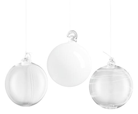 Tiara Set of Three Ornaments