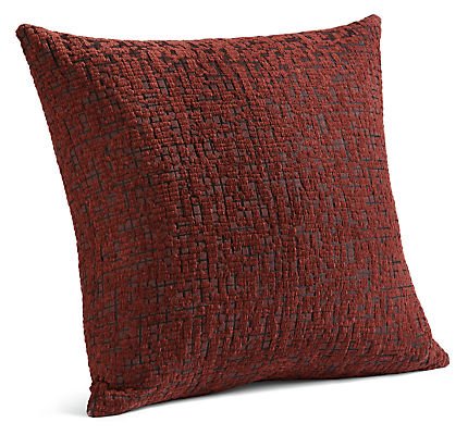 Staccato 24w 24h Throw Pillow in Rust