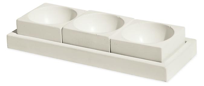Saco Pinch Bowl Set with Tray