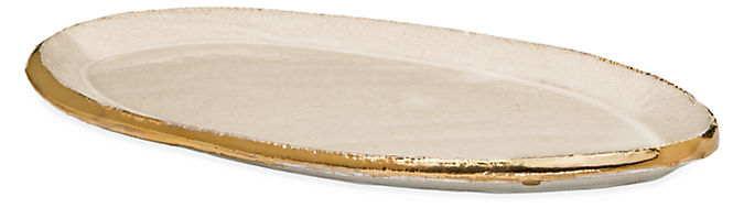 Everly 8.5w 4.5d .5h Oval Tray