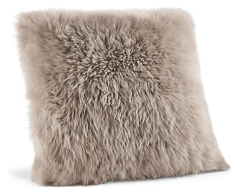 Sheepskin 20w 20h Throw Pillow