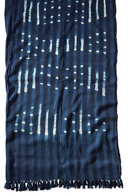 Gouro Vintage African Textile Throw Blanket