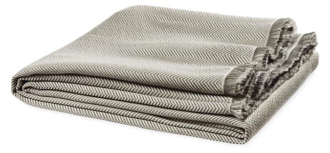 Zander Herringbone Throw Blanket
