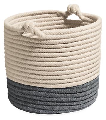 Kori 14 diam 14h Storage Basket with Twist Handles