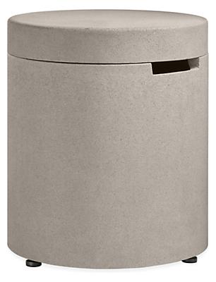 Aura 20 diam 22h Outdoor Storage Side Table