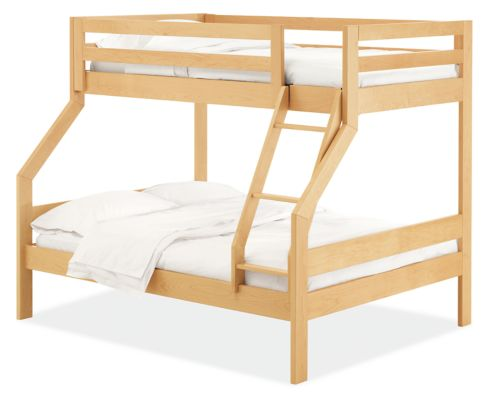 Picture of: Waverly Bunk Bed Twin Over Full Modern Bunk Beds Loft Beds Modern Kids Furniture Room Board