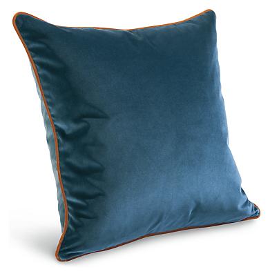 Felix 20w 20h Two-Tone Velvet Throw Pillow