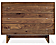 Hudson 36w 20d 28h Three-Drawer Dresser with Wood Base