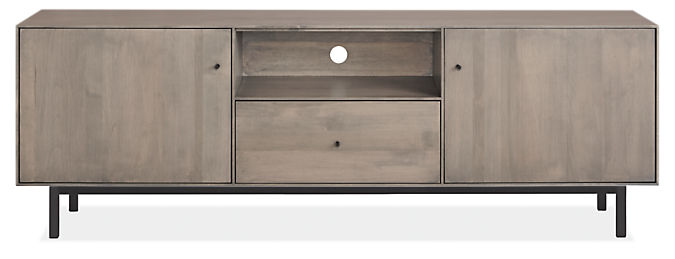 Hudson 72w 16d 24h Media Cabinet with Steel Base