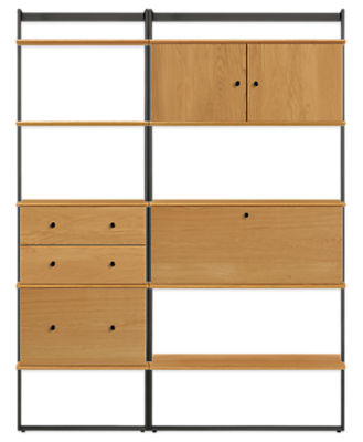 Beam 60w 16d 78h Bookcase Wall Unit with Inserts