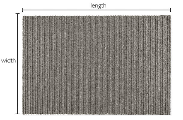 Arden Ribbed Custom Rectangle/Square Rug