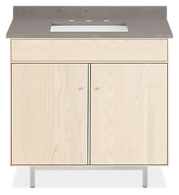 Hudson 36w 21.75d 34h Bathroom Vanity with Left & Right Side Overhang