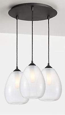 Gale Pendants with Round Ceiling Plate - Set of Three