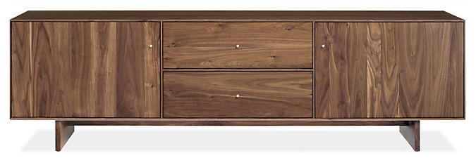 Hudson 82w 20d 24h Media Cabinet with Wood Base