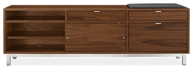 Copenhagen 80w 16d 25h Right-File Drawer Bench with Cushion
