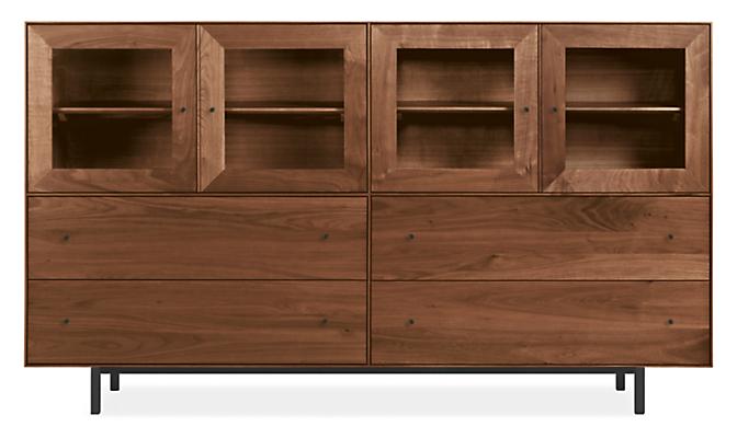 Hudson 86w 20d 50h Storage Cabinet with Steel Base