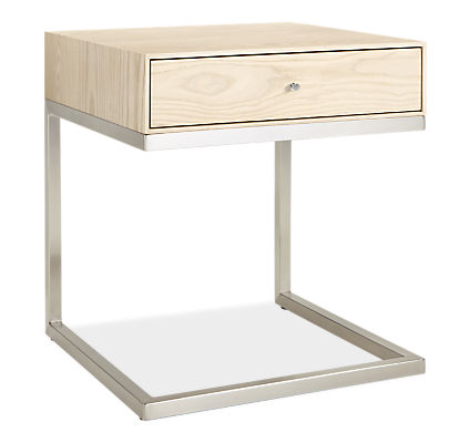 Hudson 20w 20d 22h One-Drawer C-Table Nightstand
