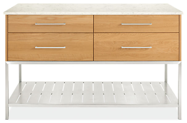 Booker 60w 30d 36h Four-Drawer /Four-Door Kitchen Island with Full Shelf