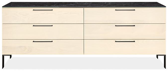 Kenwood 84w 20d 33h Six-Drawer Dresser with Ceramic Top
