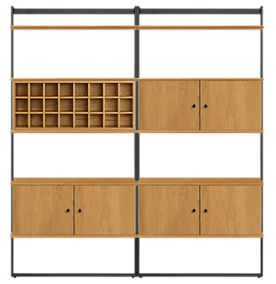 Beam 72w 12d 78h Bookcase Wall Unit with Inserts