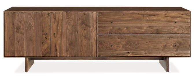 Hudson 72w 16d 24h Media Cabinet with Wood Base