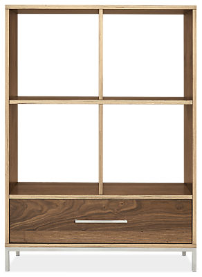 Baker 34w 16d 47h One-Drawer Storage Cubby