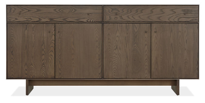 Hudson 72w 16d 34h Storage Cabinet with Wood Base