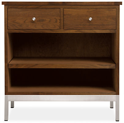 Linear 28w 20d 28h Two-Drawer Nightstand