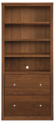 Woodwind 32w 17d 72h Two-File-Drawer Bookcase
