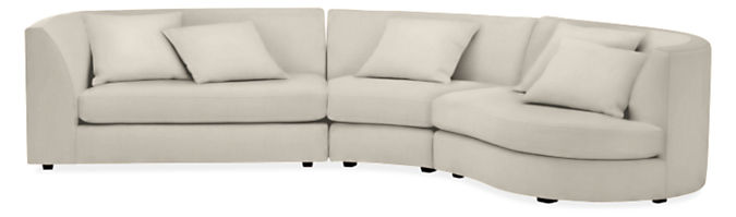 """Astaire 132x77"""" Three-Piece Sectional Sofa with Left-Arm Sofa"""