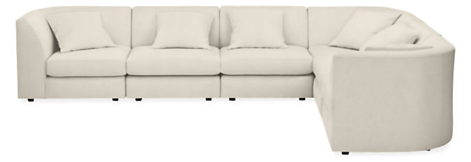 """Astaire 138x106"""" Six-Piece Modular Sectional In Fabric"""
