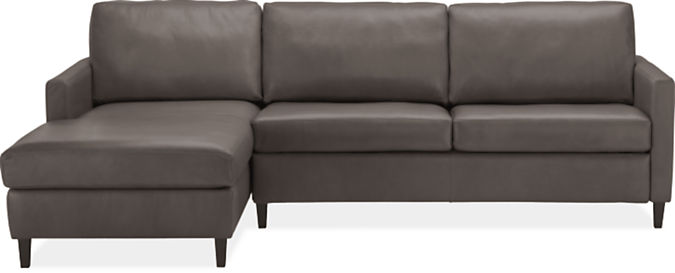 """Berin Thin Arm High 110"""" Queen Sleeper Sofa w/Left-Arm Chaise"""
